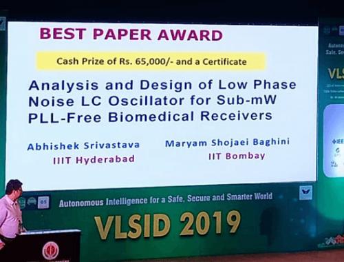 IIIT-H Prof Wins Best Paper Award at VLSI Design C...