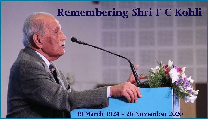 Remembering Shri F C Kohli